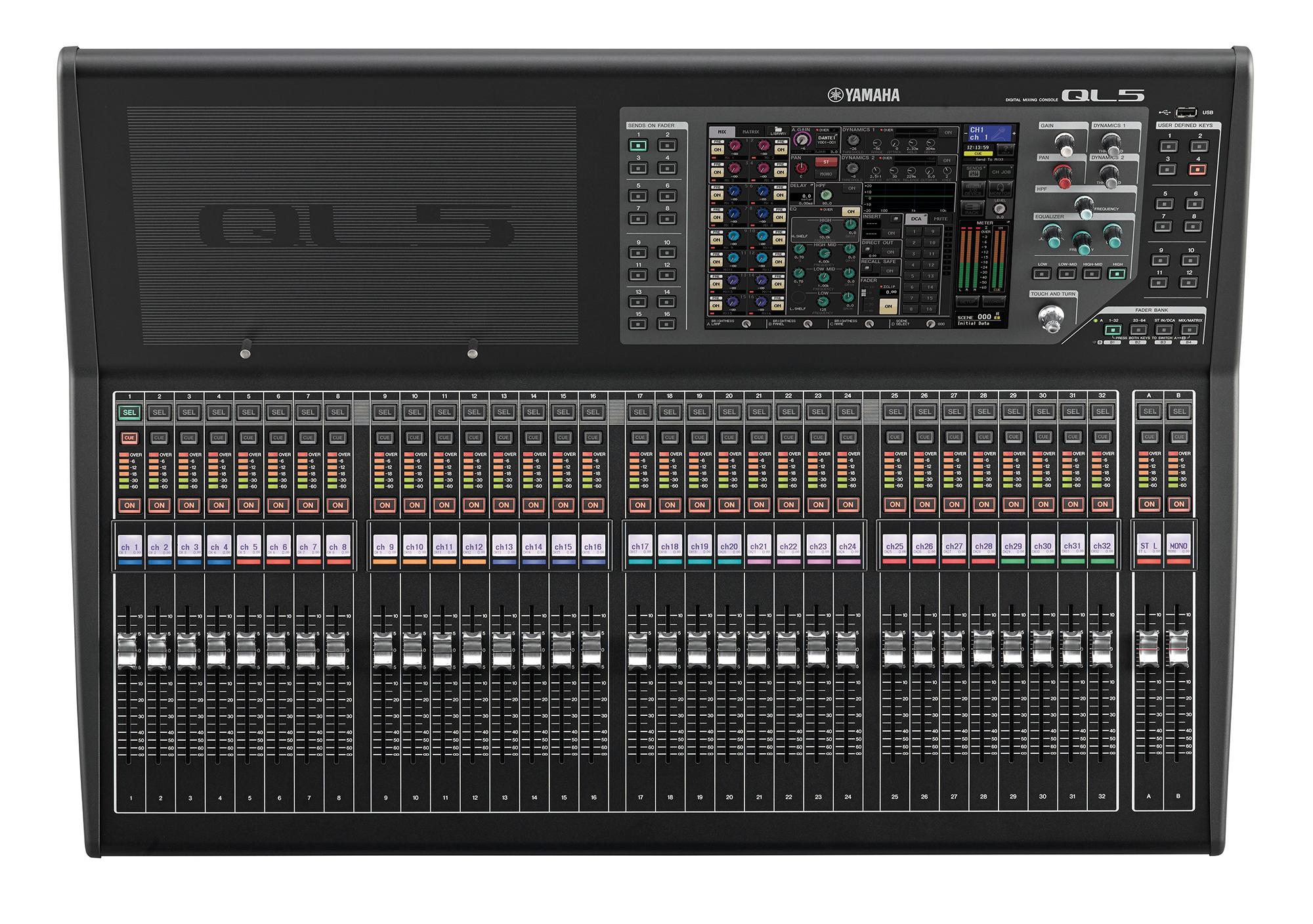 la console ql5 yamaha agrandit le parc sonorisation xeos